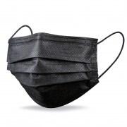medimondo Einweg-Maske - Mund- und Nasenschutz | 50 Stück, schwarz