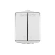 JAROLIFT Feuchtraum-Jalousieschalter IP65 Aufputz-Wippschalter