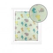 JAROLIFT Fliegengitter für Fenster mit Kindermotiven 130 x 150cm, weiß