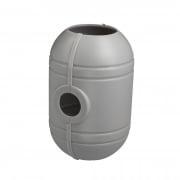 PARAMONDO Kurbelgehäuse für interpara Sonnenschirm (3,5m / 4x3m), silber