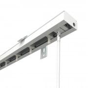 VICTORIA M Vertikaljalousie-Schiene für 8,9cm Lamellen | 100cm Länge, weiß