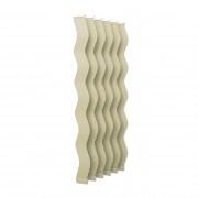 VICTORIA M Vertikaljalousie-Lamellen Scarlett - S-Form, leicht lichtdurchlässig - 8,9 x 250cm, beige | 6er Pack