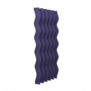 VICTORIA M Vertikaljalousie-Lamellen Scarlett - S-Form, leicht lichtdurchlässig - 8,9 x 250cm, blau | 6er Pack