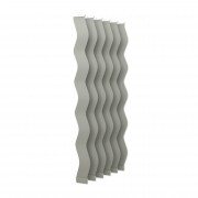 VICTORIA M Vertikaljalousie-Lamellen Scarlett - S-Form, verdunkelnd - 8,9 x 250cm, silber | 6er Pack