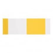 PARAMONDO Stoffmuster für Klemmmarkise - Balkonmarkise JAM | Stoff: Block, gelb-weiß