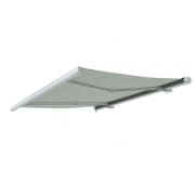 PARAMONDO Kassettenmarkise Curve | 3,5 x 3 m | Gestell: weiß | Stoff: Uni, creme