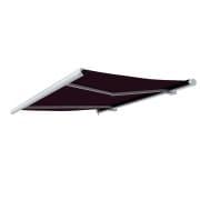 PARAMONDO Kassettenmarkise Curve | 3,5 x 3 m | Gestell: weiß | Stoff: Uni, weinrot