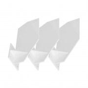 PARAMONDO Dachsparrenhalterung für Kassettenmarkise Curve | weiß, 3er Set