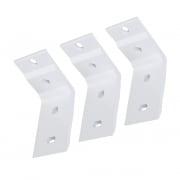 PARAMONDO Deckenhalterung für Kassettenmarkise Line | weiß, 3er Set