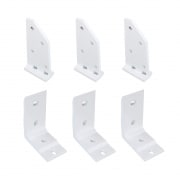 PARAMONDO Dachsparrenhalter-Set mit Deckenwinkel für Kassettenmarkise Line | weiß, 3er Set