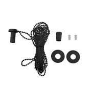VICTORIA M Zugkette für Klemmfix Doppelrollo / Duorollo, 300 cm, kürzbar, schwarz