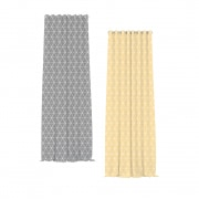 Home Wohnideen Ösenvorhang | transparent, Triangel-Muster (Typ nach Wahl)
