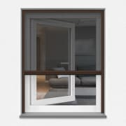 insektenschutz fliegengitter spannrahmen f r fenster 130 x 150 cm wei silber oder braun. Black Bedroom Furniture Sets. Home Design Ideas