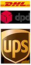 Versicherter Paket-Versand mit DHL, DPD und UPS oder Spedition